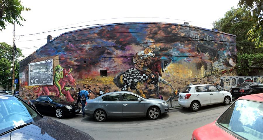 Bucharest Street Art Arthur Verona Wall