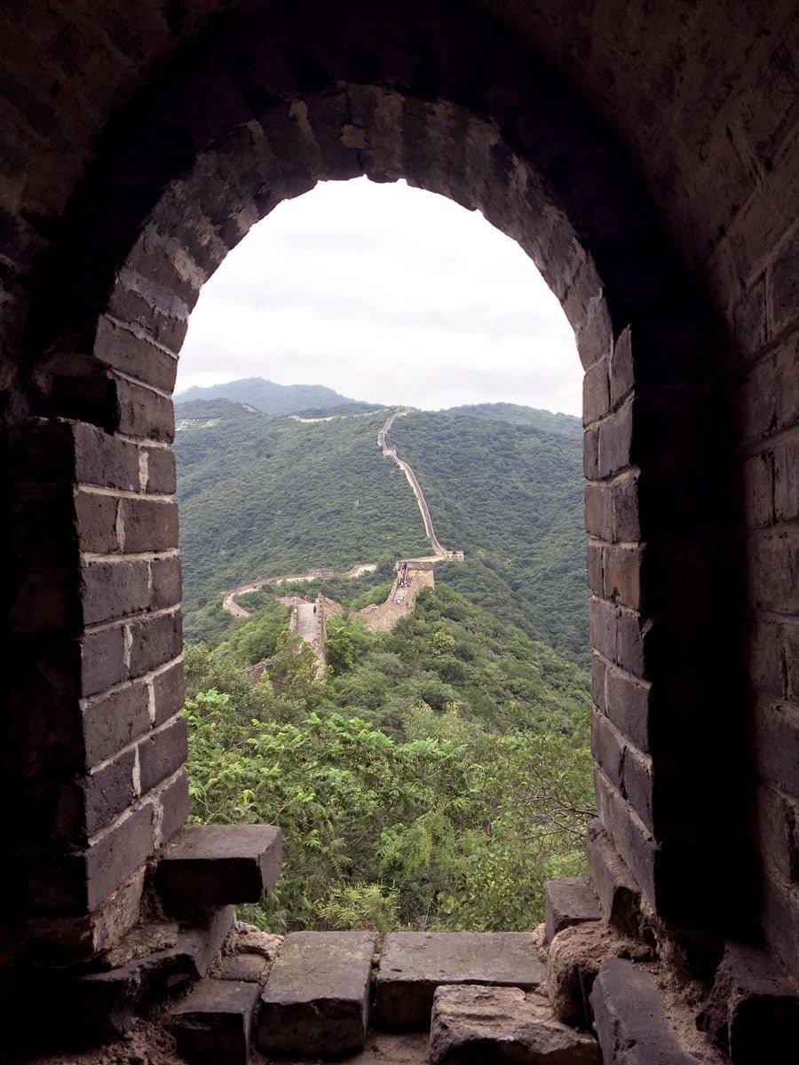 Beijing Mutianyu Great Wall Window View