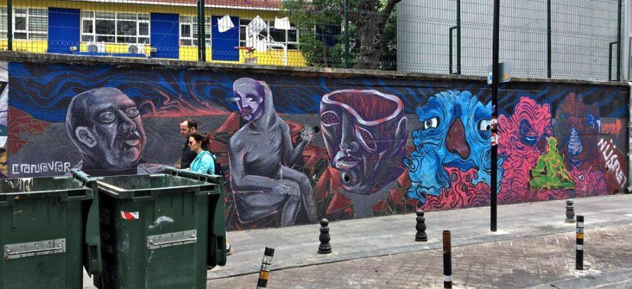 Istanbul Kadikoy Street Art Wall