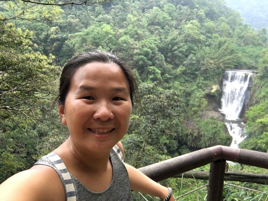 New Taipei Sandiaoling Hegu Waterfall Selfie