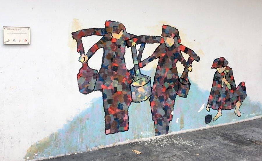 Singapore Street Art Banda Road Samsui Women