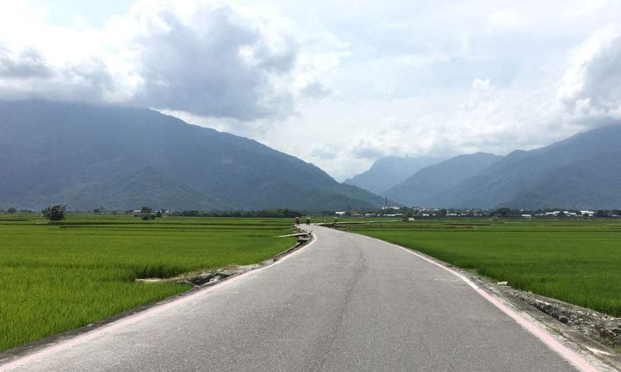 Taitung Chishang Heaven Road Curve