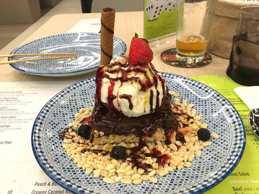 Yotel Singapore Grains and Hops Rice Krispy Dessert