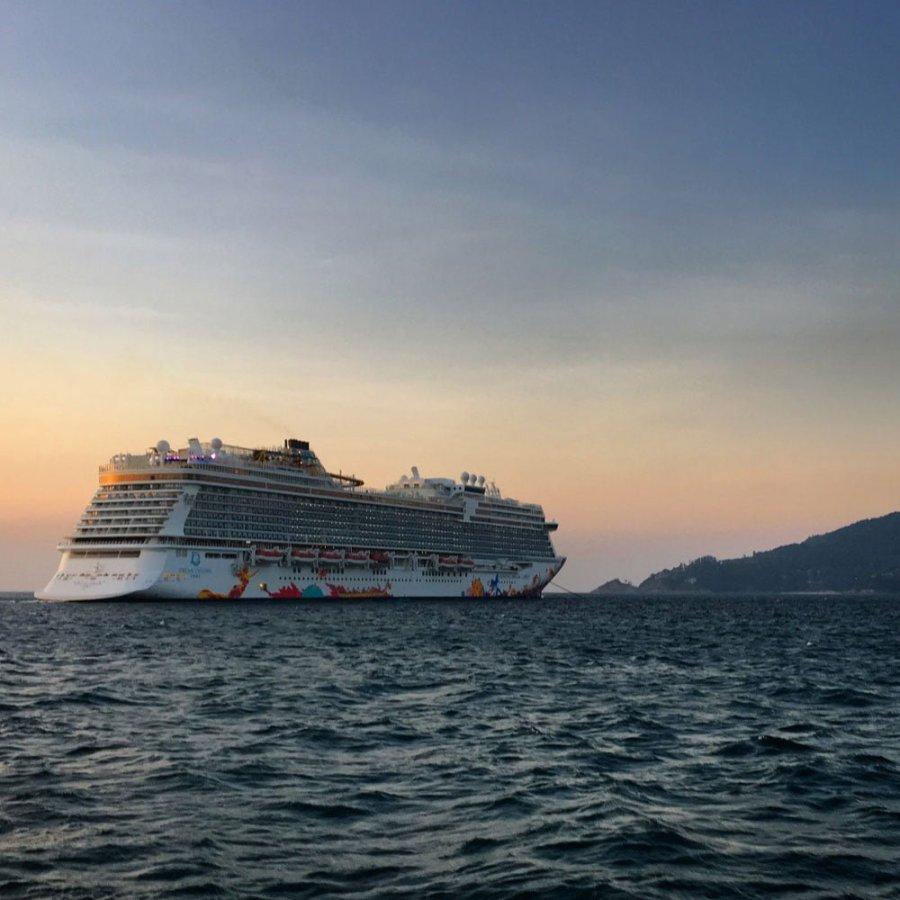 Genting Dream Cruise Ship Sunset Phuket