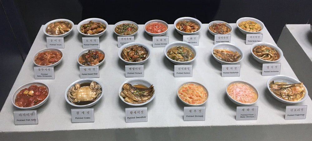 Gwangju Folk Museum Food Exhibit