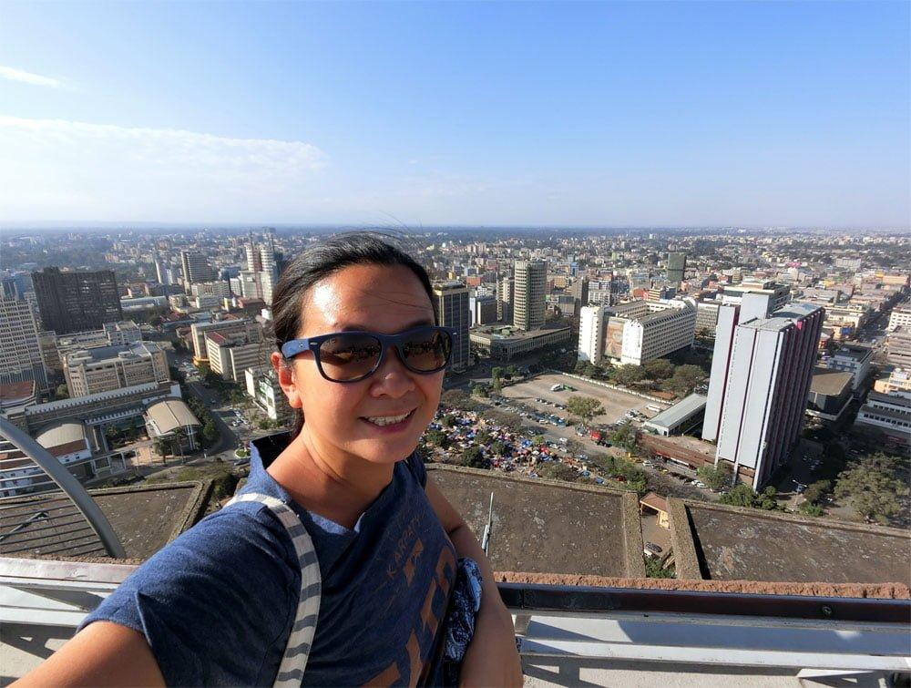 Kenya Nairobi KICC Helipad View Me