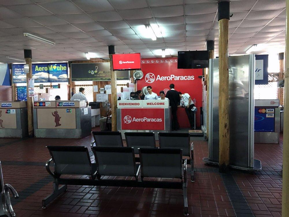 Peru Nazca Airport Aeroparacas Counter