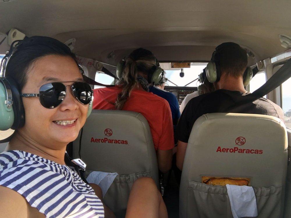 Peru Nazca Plane Interior Selfie
