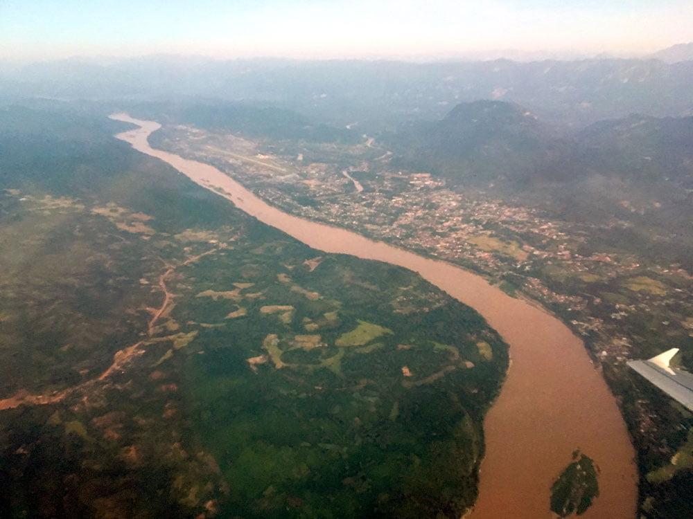Laos Luang Prabang From Plane