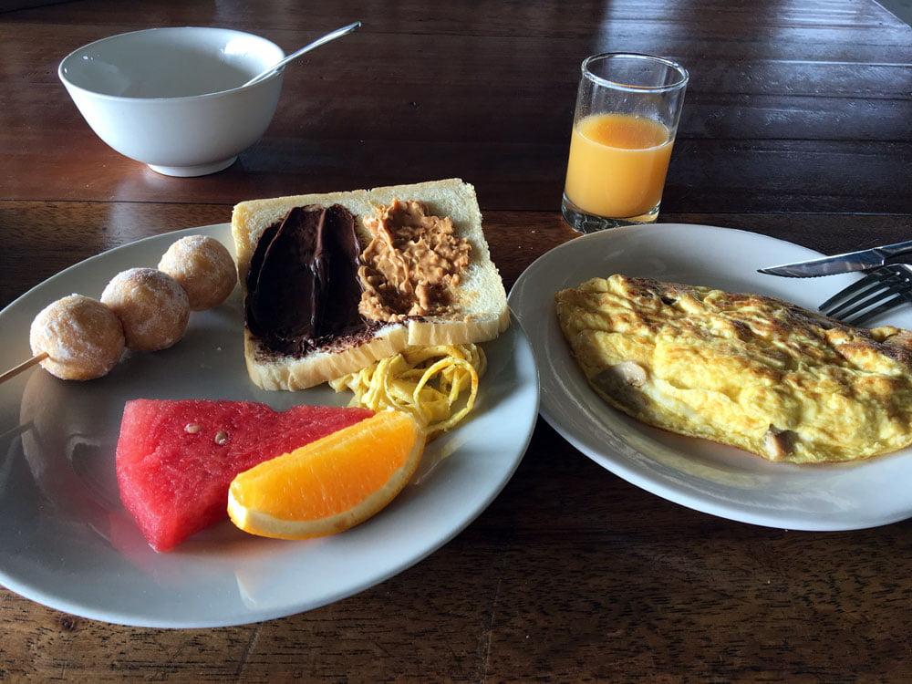 Telunas Beach Resort Breakfast