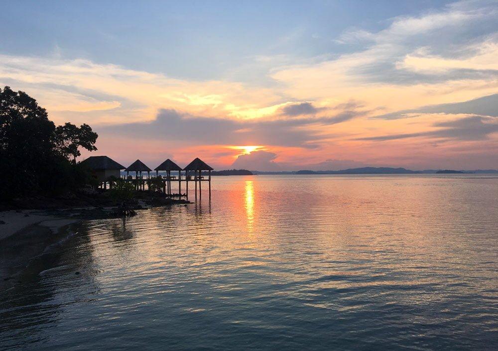 Telunas Private Island Sunset