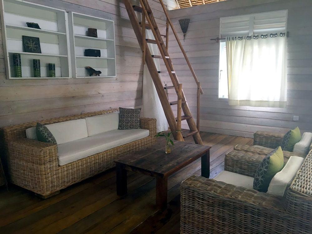Telunas Private Island Villa Living Room