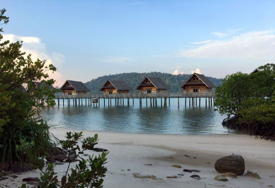 Telunas Private Island Villas Row