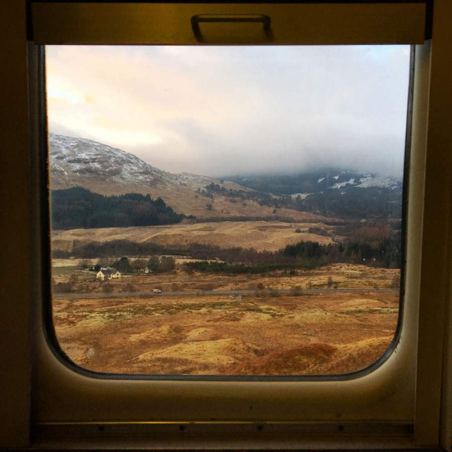 Scotland Caledonian Sleeper Window View