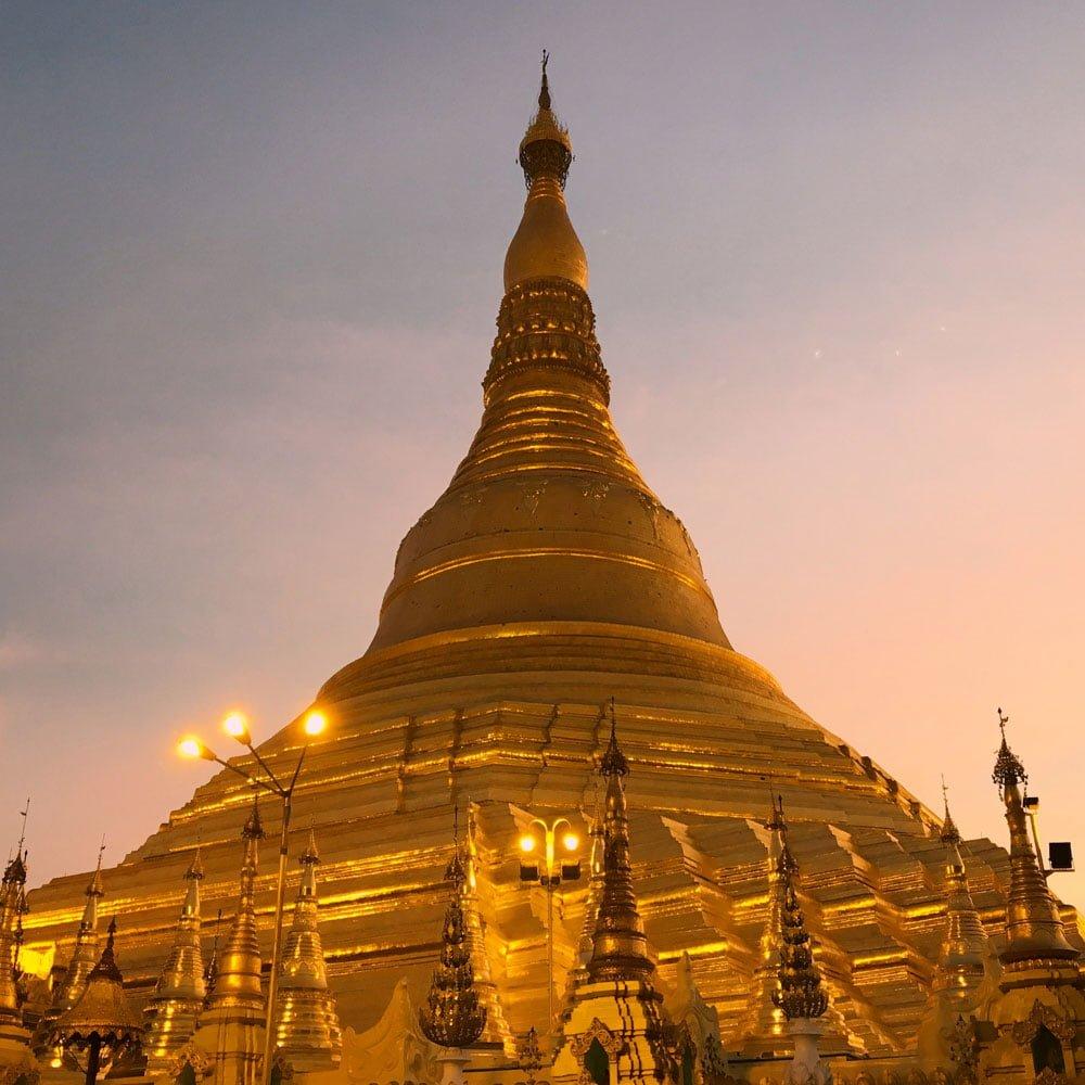Yangon Shwedagon Pagoda Sunset