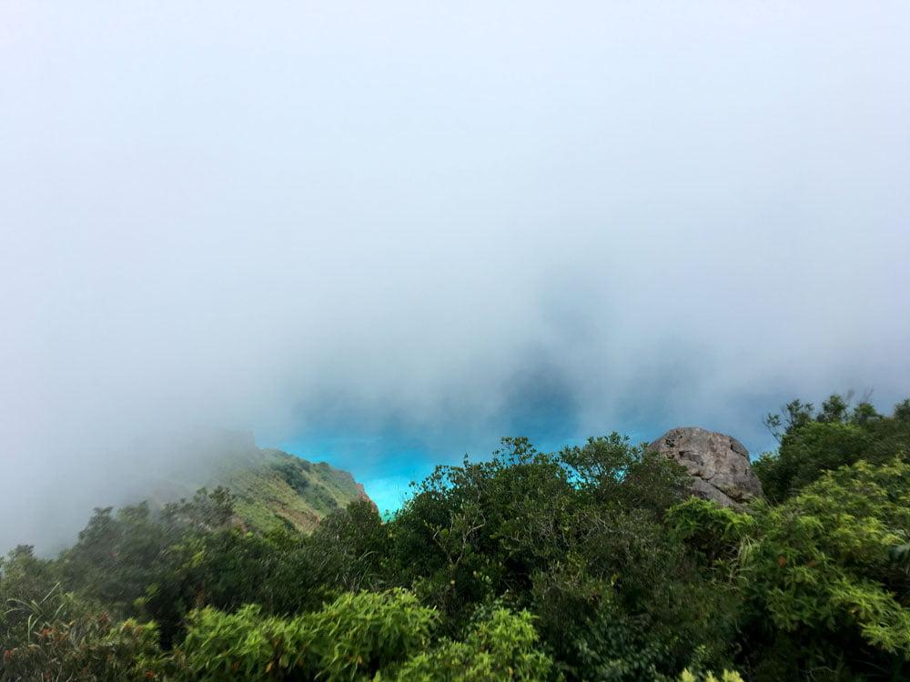 Guishandao 401 Peak foggy view