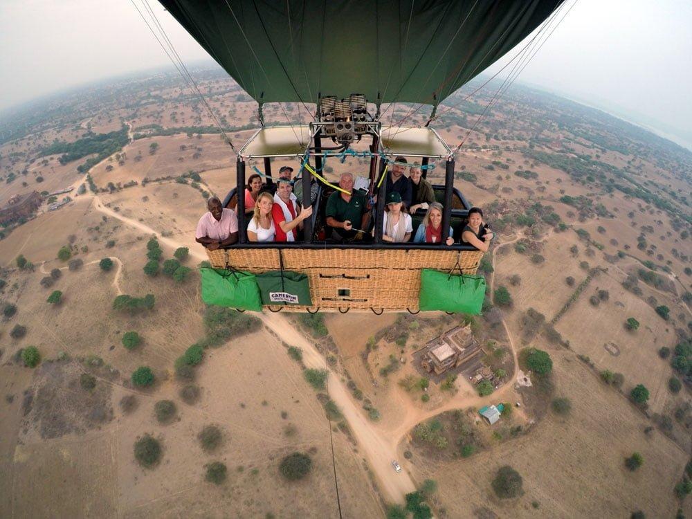 Bagan Ballooning Flying Group Shot