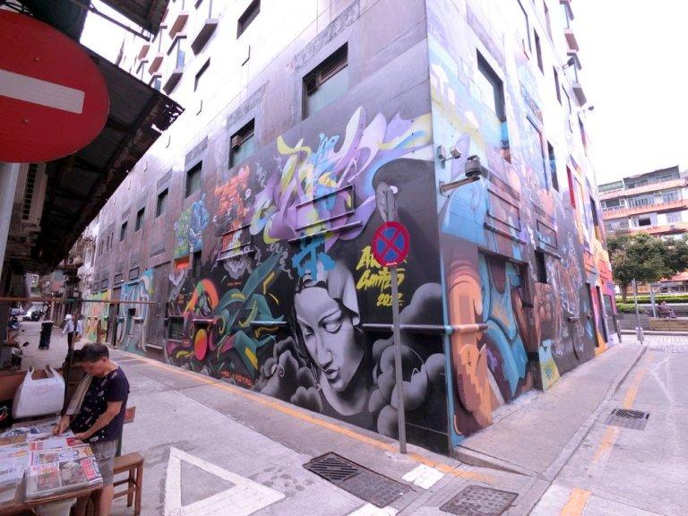 Macao Street Art Hotel SunSun Back Alley