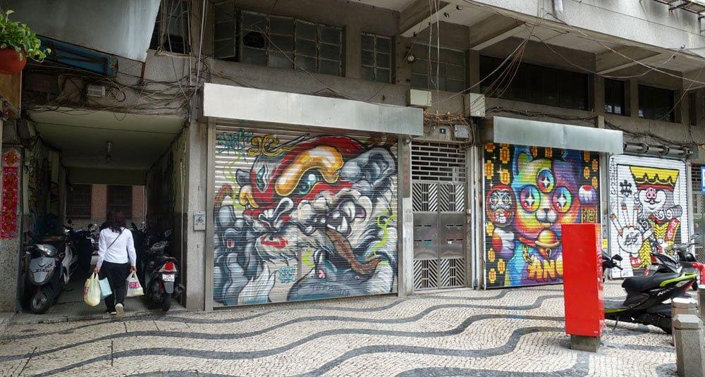 Macao Street Art Opp Hotel