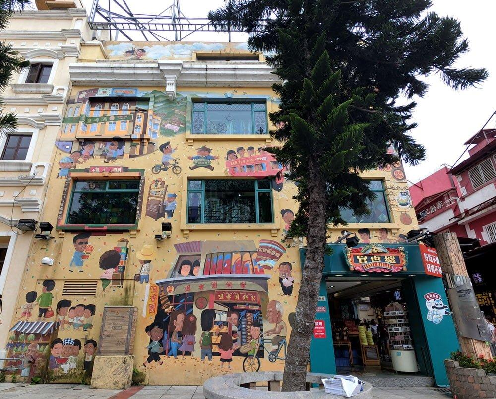 Macao Street Art Taipa Cunha Bazaar