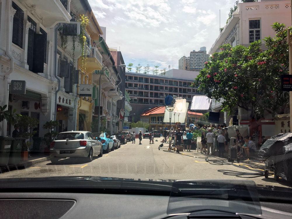 Singapore Crazy Rich Asians Bukit Pasoh Filming Car