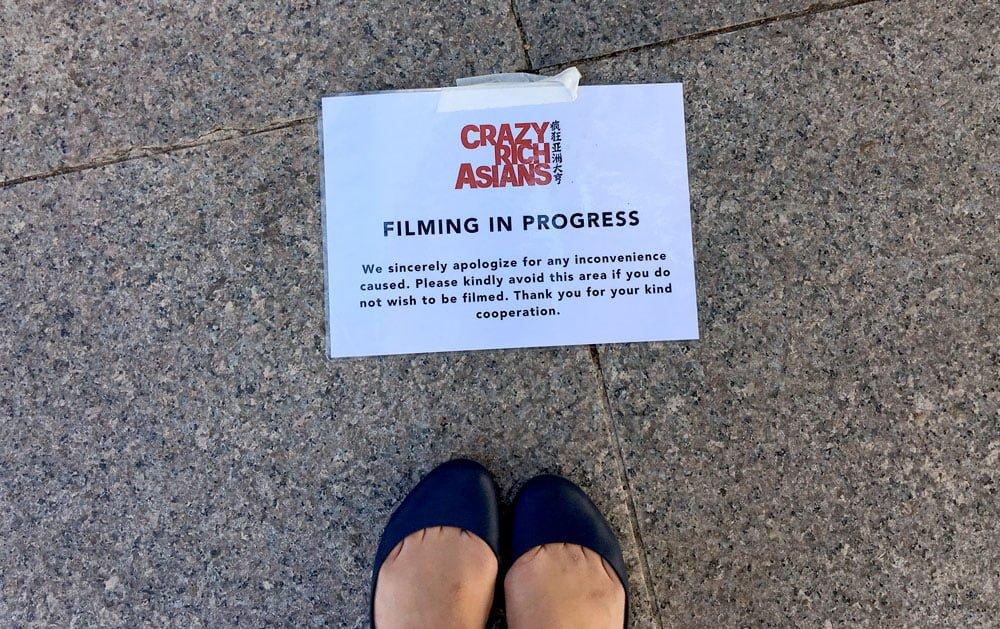 Singapore Crazy Rich Asians Film Shoot
