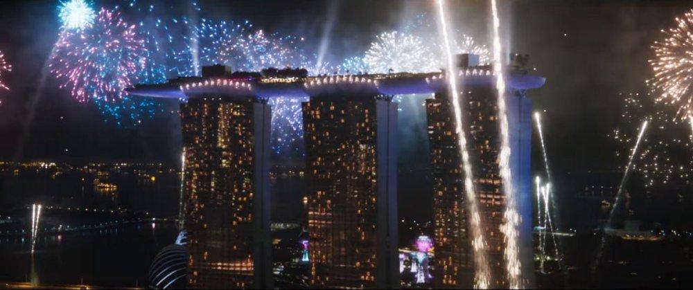 Singapore Crazy Rich Asians Trailer Marina Bay Sands Fireworks