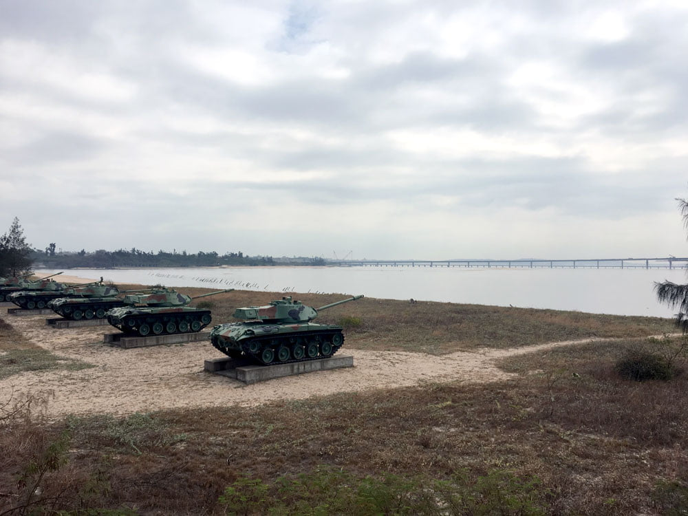 Kinmen Triangle Fort Beach Tanks