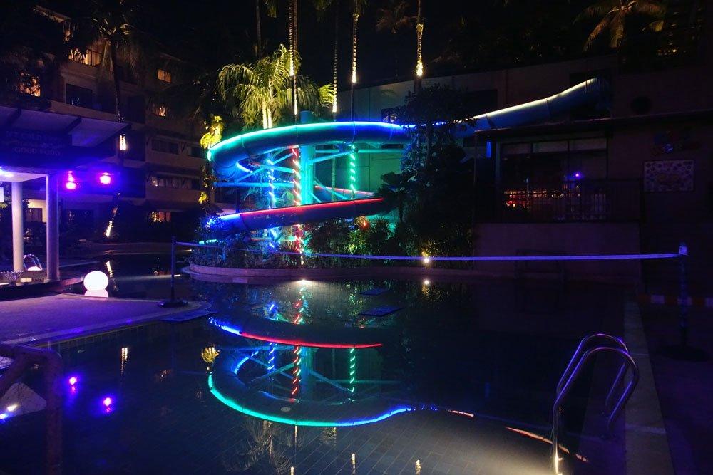 Novotel Phuket Surin Pool Night Slide