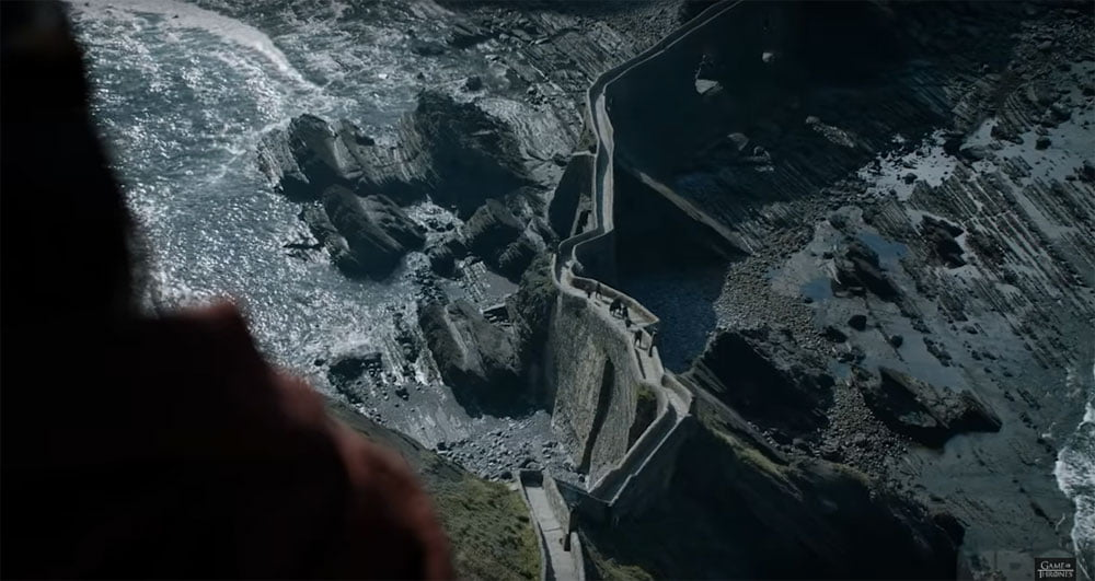 Game of Thrones Trailer Stairs Aerial