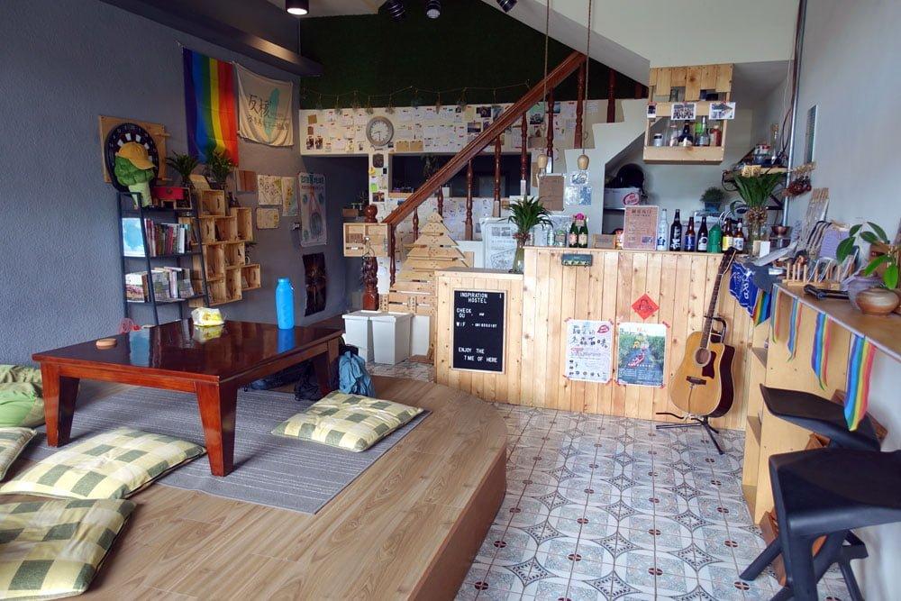 Yilan Inspiration Hostel Reception Lounge