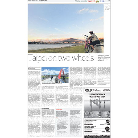 Straits Times – Cycling in Taipei