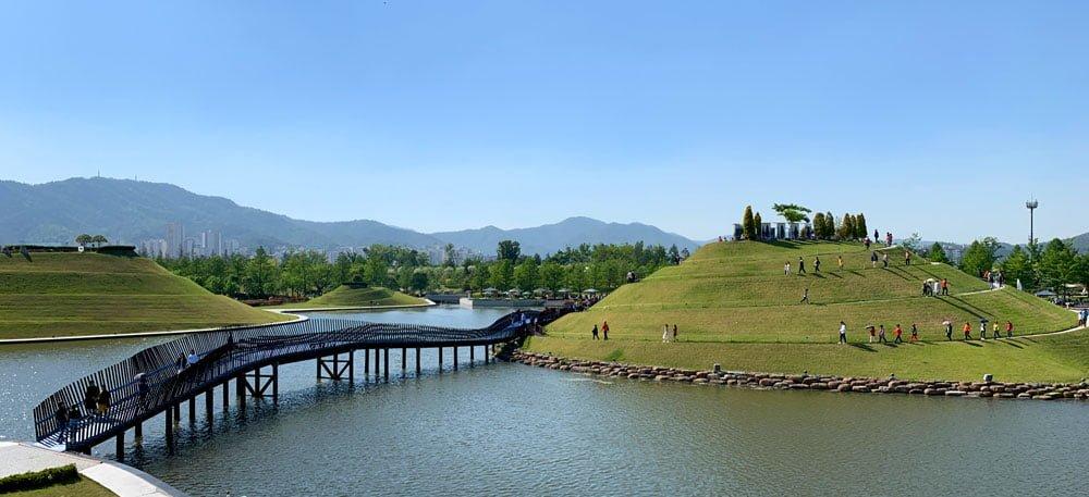 Suncheon Bay Gardens Bridge Hills