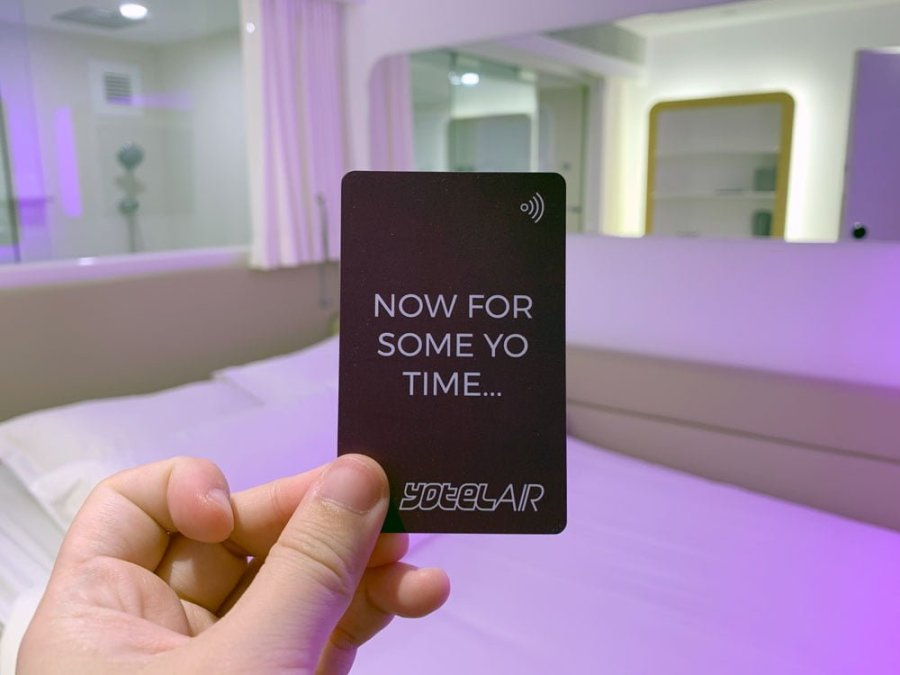 YotelAir Jewel Queen Room Keycard