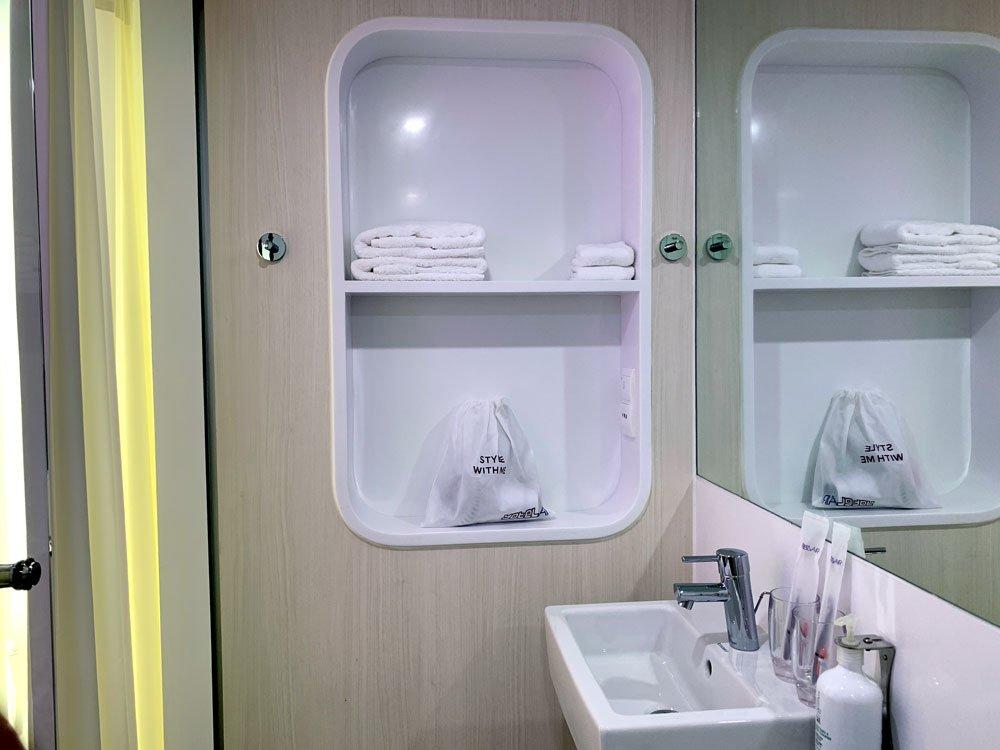 YotelAir Jewel Queen Room Toilet Shelf