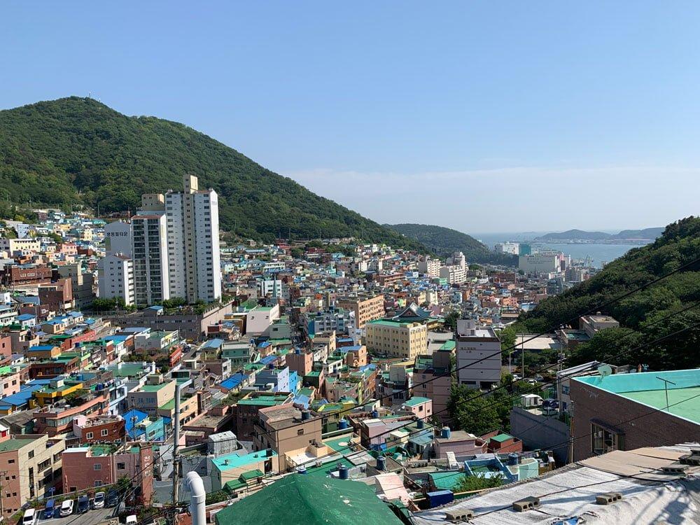 Busan Gamcheon Culture Village Houses Sea