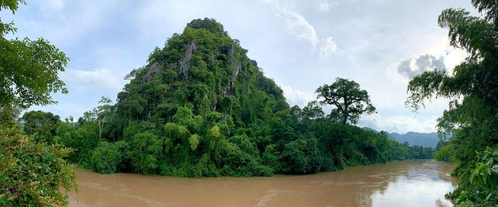 Laos Kong Lor SpringRiver Pano