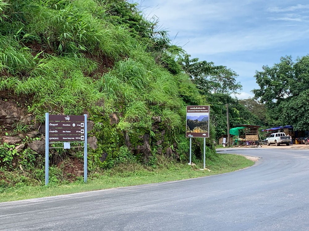 Laos Na Hin Limestone Forest Roadside