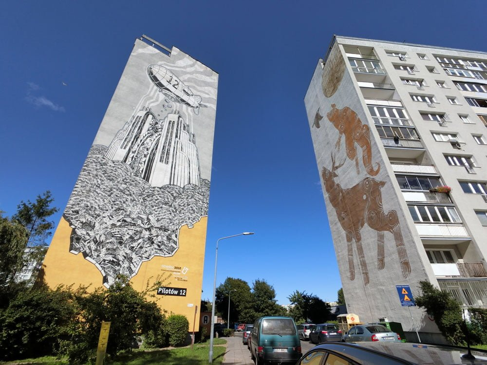 Poland Zaspa Street Art M-City Joanna Skiba