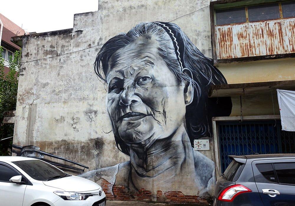 Sukhothai Sawankhalok Street Art Ceno2 Lady