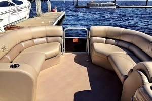 pontoon seating in the sun