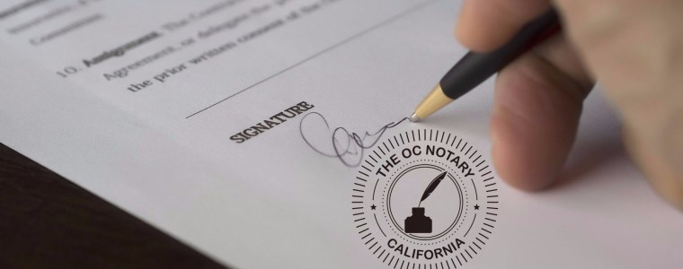 Traveling Notary Services in California