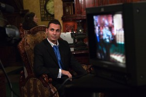 "Dominic Mestas on the set of ""What is a notary public"""
