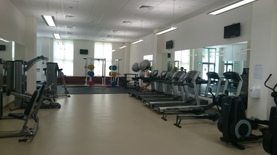 A view inside the new Fitness Centre