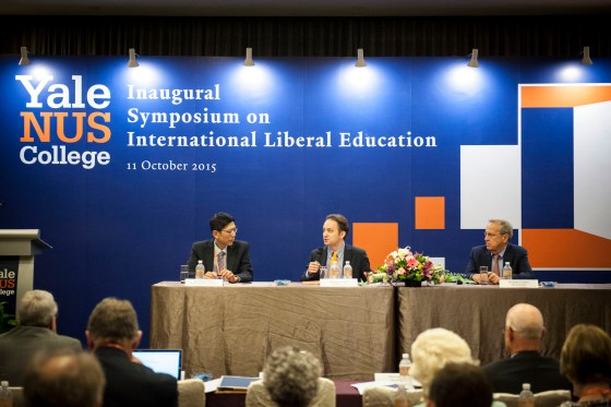 The first panel in the Symposium featured the Presidents of Yale and NUS in a discussion centred on the formation of Yale-NUS College (Public Affairs)