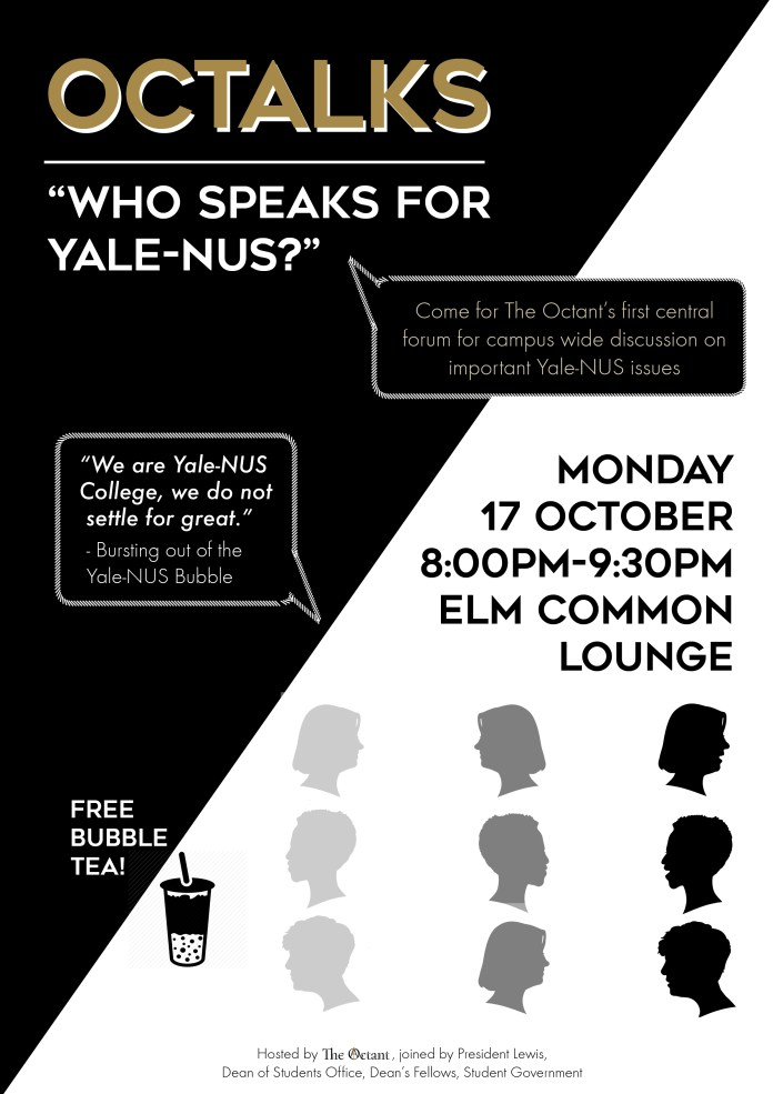 """The Original Title of the Octalk was """"Who Speaks for Yale-NUS?"""""""