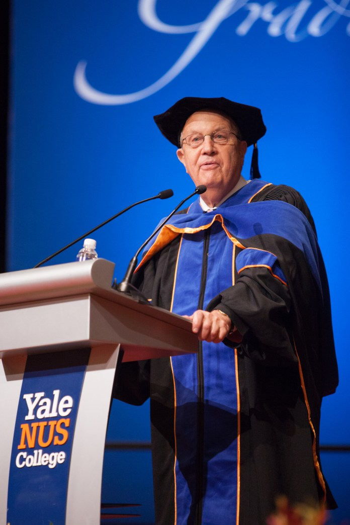 The graduation speaker was Richard Levin, former President of Yale and Chief Executive of Coursera.