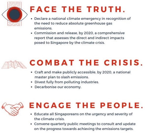 Calls to Action from the SG Climate Rally