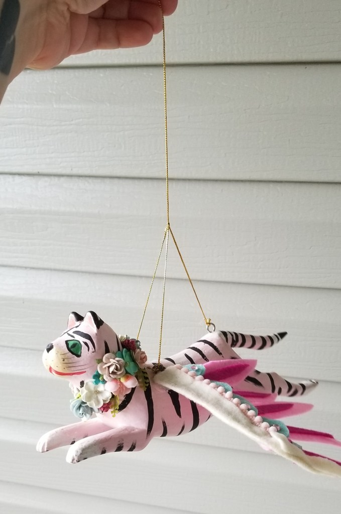 finished pink winged tiger