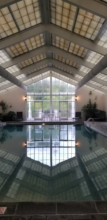indoor pool at Martha Washington Inn